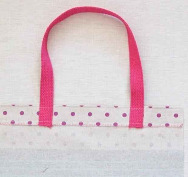 ροζ χερούλι τσάντας