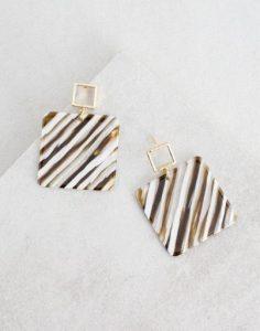 τετράγωνα σκουλαρίκια κρεμαστά