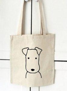 τσάντα ώμου με σκύλο