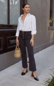 τζιν παντελόνι άσπρο πουκάμισο καθημερινό ντύσιμο
