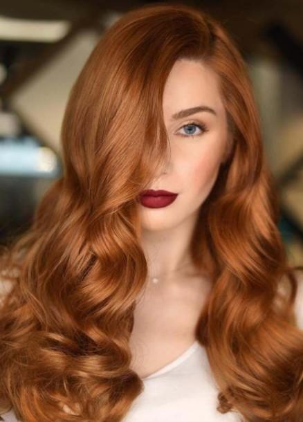 χάλκινα μαλλιά σπαστά