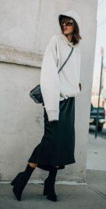 χειμωνιάτικο ντύσιμο με φούστα
