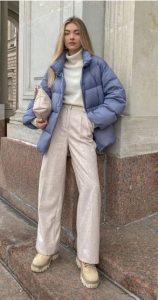 χειμωνιάτικο ντύσιμο με μπουφάν