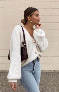 χειμωνιάτικο ντύσιμο με ζακέτα