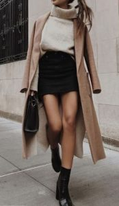 χειμωνιάτικο σύνολο με φούστα