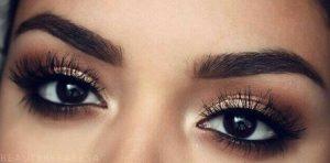 καφε χρυση σκια μαυρα ματια