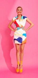 χρωματιστό φόρεμα mini