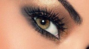 μελι ματια καφε χρυση σκια