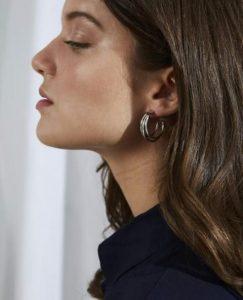 ασημένια σκουλαρίκια κρίκοι