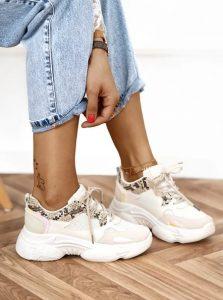 άσπρα sneakers της μόδας