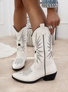 άσπρες cowboy μπότες