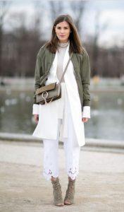 άσπρο χακί χειμωνιάτικο ντύσιμο