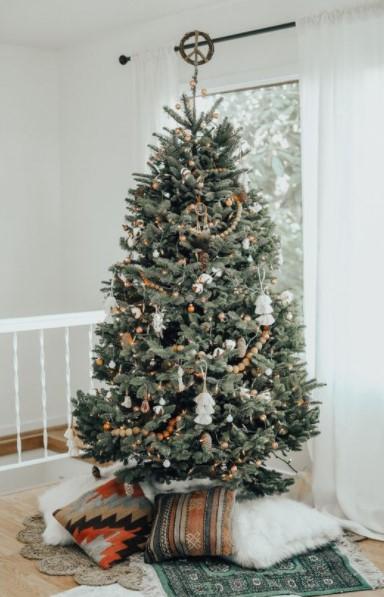 boho δέντρο μαξιλάρες διακοσμήσεις κάτω από δέντρο