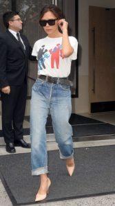 boyfriend jean ζώνη T-shirt