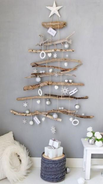 δέντρο κλαδιά τοίχο μικρό σαλόνι Χριστούγεννα
