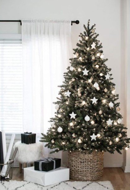 δέντρο ψάθινο πανέρι δώρα