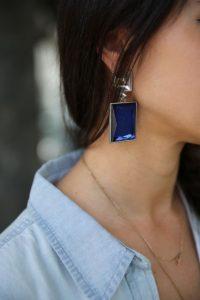 γεωμετρικά σκουλαρίκια