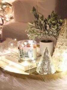 γιορτινή διακόσμηση στο σαλόνι