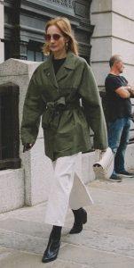 γυναικείο ντύσιμο με λαδί jacket