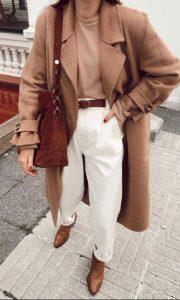 καφέ άσπρο γυναικείο ντύσιμο