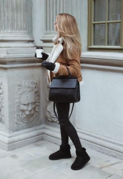 καφέ παλτό μαύρο μποτάκι παντελόνι συνδυάσεις παντελόνια μποτάκια