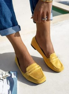 κίτρινα γυναικεία μοκασίνια
