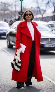 κόκκινο γυναικείο παλτό