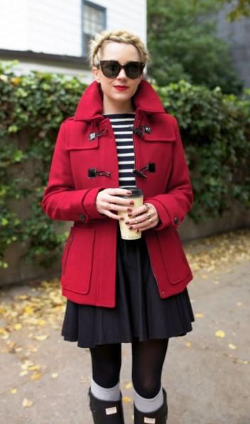 κόκκινο μοντγκόμερι φούστα