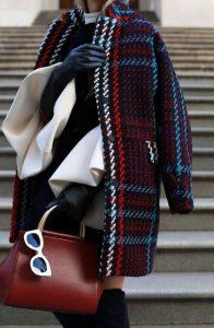 κομψό ντύσιμο με παλτό