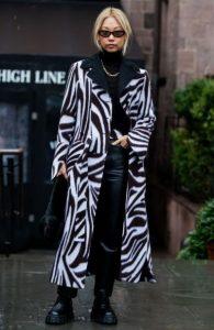 μακρύ παλτό με μοτίβο ζέβρας