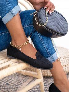 μαύρα καθημερινά γυναικεία παπούτσια χωρίς τακούνι