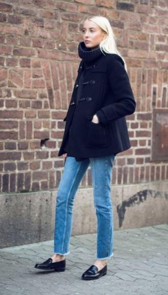 μαύρο κοντό μοντγκόμερι τζιν παντελόνι