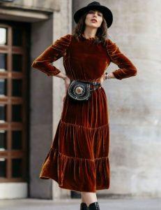 midi χειμωνιάτικο φόρεμα