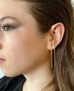 minimal χρυσά σκουλαρίκια