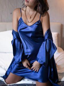 μπλε νυχτικιά κιμονό