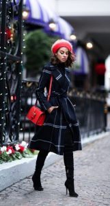 ντύσιμο με καρό παλτό