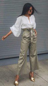 ντύσιμο με ψηλόμεσο παντελόνι