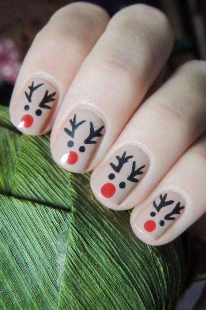 νύχια τάρανδοι 19 Όμορφα σχέδια για κοντά νύχια!