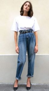 paperbag jean άσπρο T-shirt