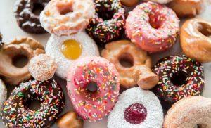 πολύχρωμο donuts τροφές χάσεις λίπος