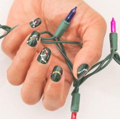 πράσινα νύχια φωτάκια