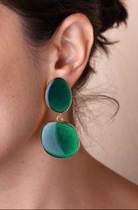 πράσινα σκουλαρίκια