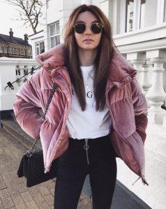 ροζ μπουφάν