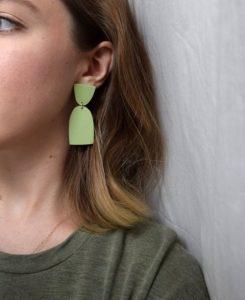 σκουλαρίκια από πηλό