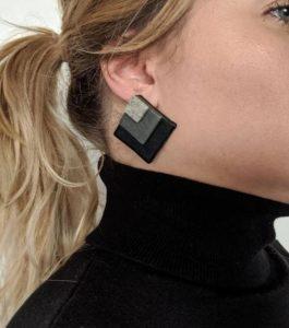 τετράγωνα σκουλαρίκια