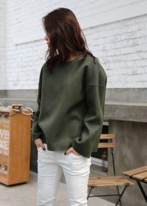 χακί πουλόβερ