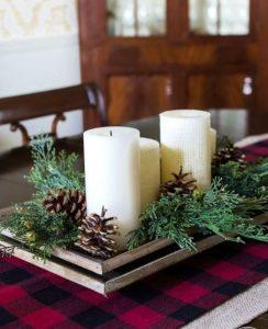 χριστουγεννιάτικη διακόσμηση στο τραπέζι