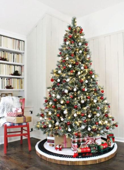 χριστουγεννιάτικο δέντρο τρενάκι βάση