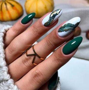 άσπρα πράσινα νύχια