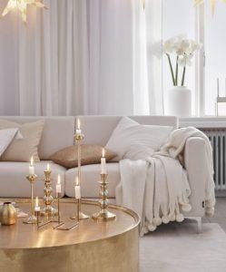 άσπρο χρυσό σαλόνι